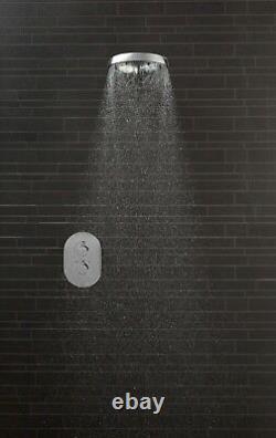 Methven Aio Modern Hi-Tech Design Bathroom Wall Mount Shower Head On Short Arm