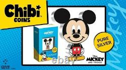 NEW 2021 Chibi Mickey Mouse 1 oz Silver Proof Coin (Sold Out) INHAND