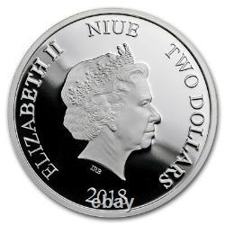 NIue -2018 1oz Silver Proof Coins- Disney Villains 4 Coins