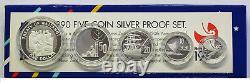 New Zealand 1990 Silver Proof Coin Set - Waitangi Treaty
