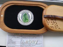New Zealand 2010 1 OZ Silver Proof Coin Maori Art Heitiki