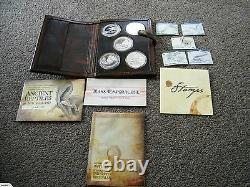 New Zealand 2010- Uncirculated Silver Coin Set Five Ancient Reptiles