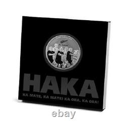 New Zealand- 2011 1 OZ Silver Proof Coin- Rugby Haka ALL BLACKS RUGBY