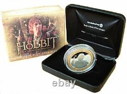 New Zealand- 2012 1 OZ Silver Proof Coin- Hobbit Coin Bilbo Baggins