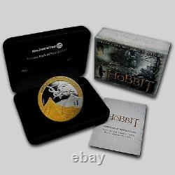 New Zealand- 2013 1 OZ Silver Proof Coin- Hobbit Coin Desolation of Smaug