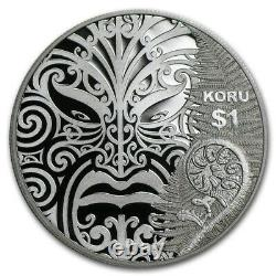 New Zealand 2013 1 OZ Silver Proof Coin Maori Art Koru