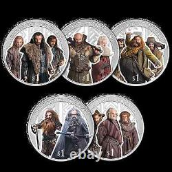 New Zealand 2013 Silver Proof Coin Set- Hobbit Coins Desolation of Smaug