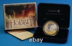 New Zealand 2014 1 OZ Silver Proof Coin- Hobbit DRAGON Bilbo Baggins