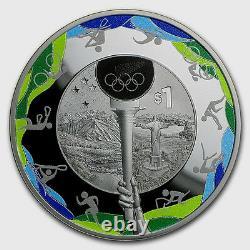 New Zealand 2016 1 OZ Silver Proof Coin RIO DE JANEIRO OLYMPICS