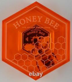 New Zealand 2016 Silver Dollar Proof Coin Honey Bee