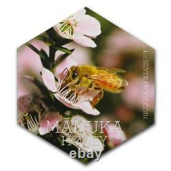 New Zealand 2018 1 OZ Silver Proof Coin- Manuka Honey Bee