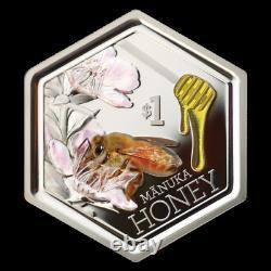 New Zealand -2018 1 OZ Silver Proof Coin- Manuka Honey Bee