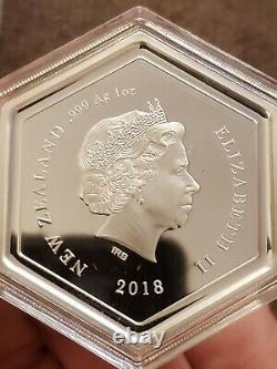 New Zealand -2018 1 OZ Silver Proof Coin- Manuka Honey Bee SHIPS FROM US