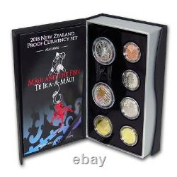 New Zealand 2018- Silver Proof Coin Set Maui and the Fish