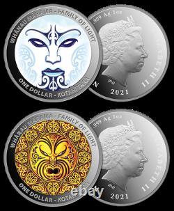 New Zealand- 2021 Silver Proof Coin Set Whanau Marama Family of Lights