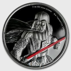 Niue 2017 2 OZ Silver Proof Coin Star Wars Darth Vader Coin