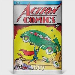 Niue 2018- Action Comics #1 Poster 35 grams Pure Silver Foil