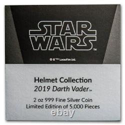 Niue 2019 2 oz Silver Proof Helmet Star Wars Darth Vader Helmet