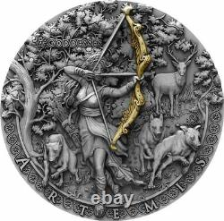 Niue 2019 It Goddesses Artemis High Relief $2 silver coin 2 oz