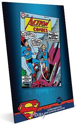 Niue- 2019- Silver Foil 35 grams Pure Silver- DC Comics Action Comics #252