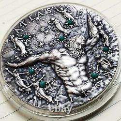 Niue 2020 Titans Atlas Glow in the Dark $2 silver coin 2 oz