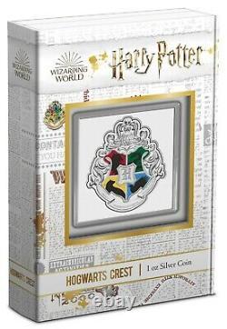Niue 2021 1 OZ Silver Proof Coin HARRY POTTER Hogwarts Crest