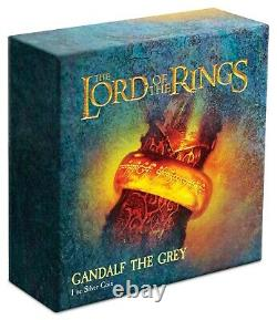 Niue 2021 1 OZ Silver Proof Coin- Lord of The Rings Gandalf the Grey