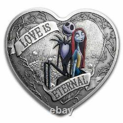 Niue 2021 1 OZ Silver Proof Nightmare Before Christmas Love is Eternal
