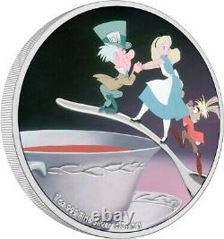 Niue 2021- 1 Oz Silver Proof Coin -Disney Alice in Wonderland The Mad Hatter
