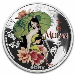 Niue 2021 1 oz Silver Proof Coin Disney Coins -Disney Princess Mulan
