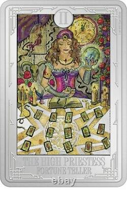 Niue 2021 1 oz Silver Proof Coin- Tarot Cards The High Priestess