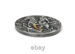 Niue 2021 Four Horsemen of the Apocalypse Pale Horse 5$ silver coin 2 oz