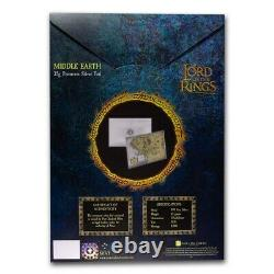 Niue -2021- THE LORD OF THE RINGS Middle Earth 35g Pure Silver Foil