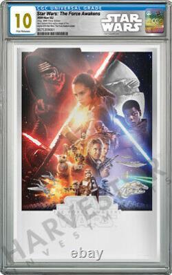 Star Wars The Force Awakens Premium Silver Foil Cgc 10 Gem Mint First Rele