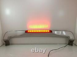 Volvo V70 Wagon Rear Tailgate Trunk Spoiler Wing With Red Break Light 00-07 SILVER