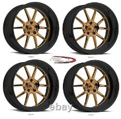 18 Pro Wheels Rims Drag Line Billet Forged Custom Staggered Touring Bronze