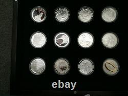 2003 Seigneur Des Anneaux 24 Silver Proof Coins Set! Rares