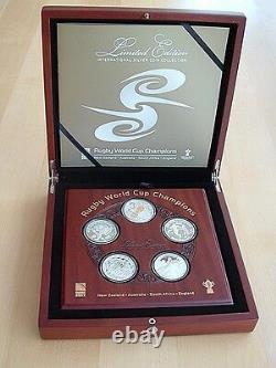 2011 Rugby World Cup Champions Silver Proof Coin Set New Zealand Post