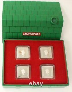 2013 Niue Monopoly 4 X 1/4oz Silver Coin Set New Zealand Mint Fractional Hasbro