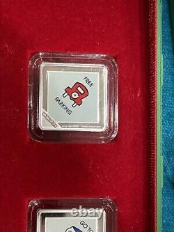 2013 Rcm Niue Nouvelle-zélande Mint Monopoly 4 Piece Silver Coin Set House Display