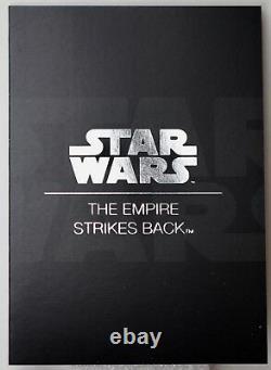 2017 $2 Star Wars Poster Collection Empire Frappe En Arrière 1 Oz Pièce Couleur Argent