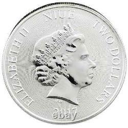 2017 Nouvelle-zélande Hms Bounty 1 Oz Silver Round Limited Uncirculated Bullion Coin