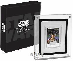 2017 Star Wars Empire Frappe L'affiche De Retour Coin 1 Oz. Pièce D'argent