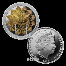 2018 2x 1 Oz Silver Proof Coins Maori Art Maui Et Le Soleil