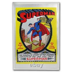 2018 Niue 35 Grammes Silver DC Comics Superman #1 Foil