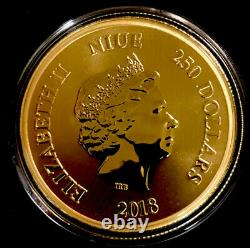 2018 Niue Disney Scrooge Mcduck 1oz Or 250 $ Pièce. 999 Amende Monnaie Néo-zélandaise