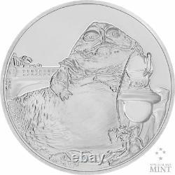2018 Star Wars Classics Jabba The Hutt 1oz Silver Coin