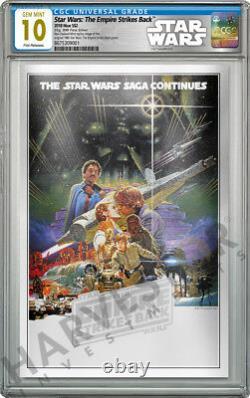 2018 Star Wars Empire Strikes Back Silver Foil Cgc 10 Gem Mint Première Version