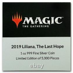 2019 Magic The Gathering-liliana, Le Dernier Espoir, 1oz Argent 2 $ Magie
