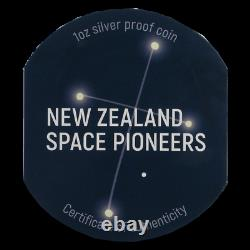 2019 Nouvelle-zélande $1 Space Pioneers 1 Oz. 999 Silver Proof Coin Ngc Pf 70 Ucam